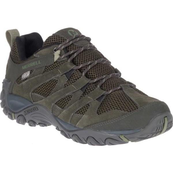 メレル メンズ ブーツ&レインブーツ シューズ Alverstone Waterproof Hiker Boot Olive Suede/Mesh