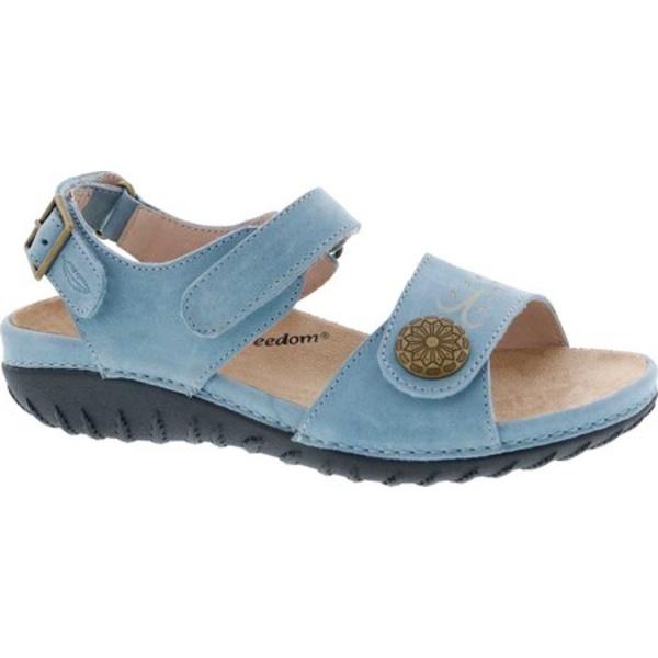 ドリュー レディース サンダル シューズ Workaround Ankle Strap Sandal Blue Leather