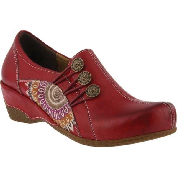 スプリングステップ レディース サンダル シューズ Agacia Closed-Back Clog Red Leather