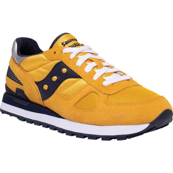 サッカニー メンズ スニーカー シューズ Shadow Original Sneaker Yellow/Navy Nylon/Suede