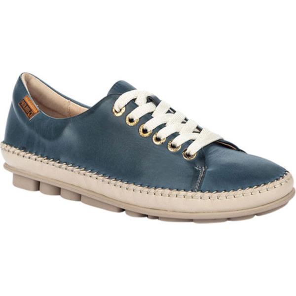 ピコリーノス レディース スニーカー シューズ Riola Sneaker W3Y-4925C1 Sapphire Calfskin