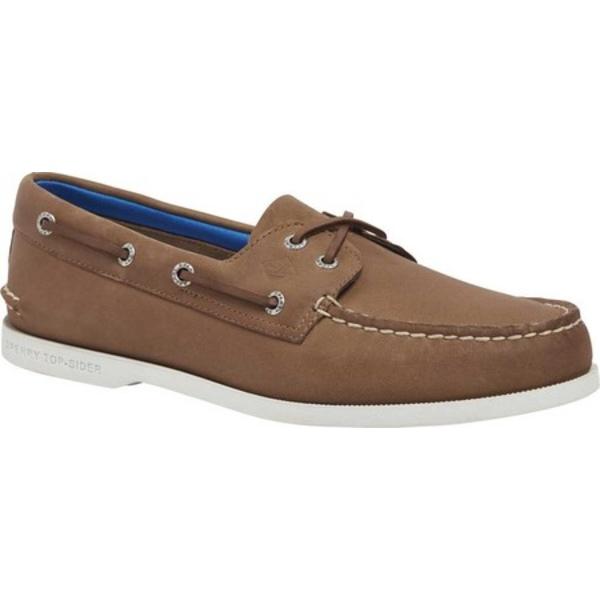 トップサイダー メンズ デッキシューズ シューズ Authentic Original 2-Eye PlushWave Boat Shoe Tan Full Grain Leather