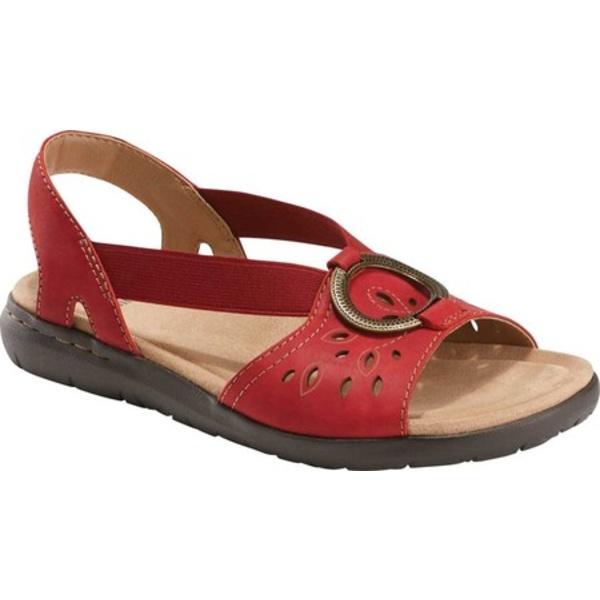 アースオリジン レディース サンダル シューズ Tawny Talia Slingback Sandal Red Vintage Cookie II Nubuck