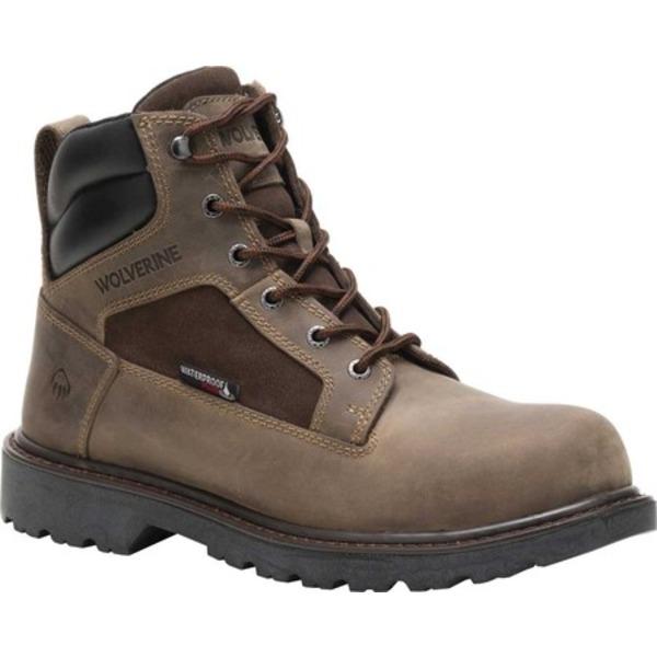 ウルヴァリン メンズ ブーツ&レインブーツ シューズ Roughneck EPX Steel Toe Work Boot Fossil Full Grain Leather