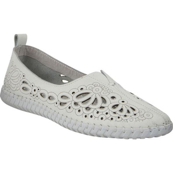 スプリングステップ レディース サンダル シューズ Mirtha Flat White Leather