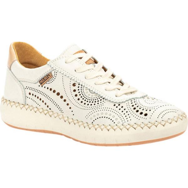 ピコリーノス レディース スニーカー シューズ Mesina Perforated Sneaker W6B-6996 Nata Calfskin