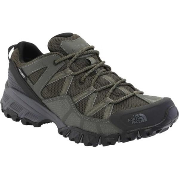 ノースフェイス メンズ スニーカー シューズ Ultra 111 Waterproof Trail Shoe New Taupe Green/TNF Black