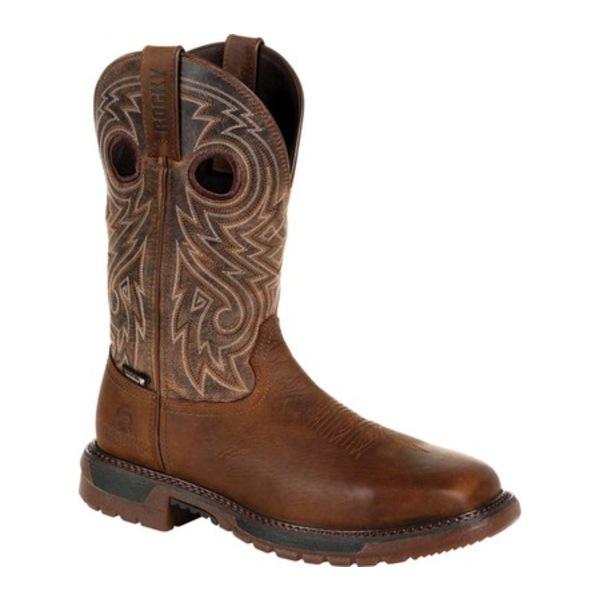 ロッキー メンズ ブーツ&レインブーツ シューズ Original Ride FLX Steel Toe Boot RKW0304 Brown Full Grain Leather