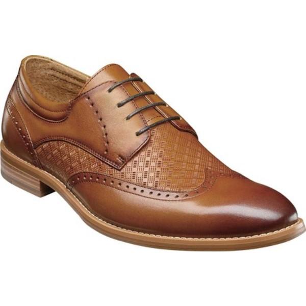 ステイシーアダムス メンズ ドレスシューズ シューズ Fallon Wing Tip Oxford Tan Smooth Leather