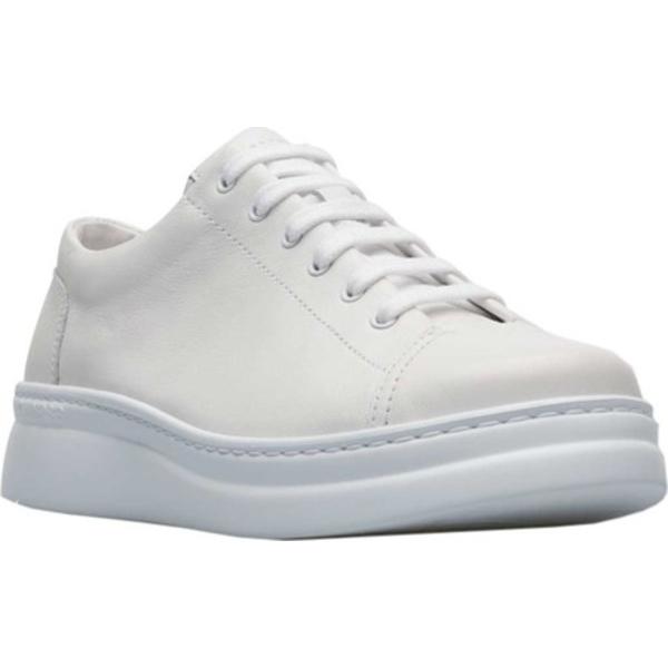 カンペール レディース スニーカー シューズ Runner Up Sneaker White Natural Full Grain Leather