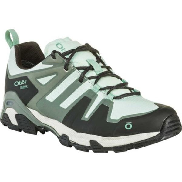 オボズ レディース ブーツ&レインブーツ シューズ Arete Low B-DRY Trail Shoe Mint Jacquard Woven Mesh