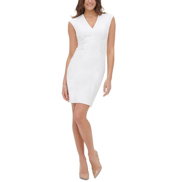 トミー NEW ARRIVAL ヒルフィガー レディース 贈与 トップス ワンピース Side-Ruched 全商品無料サイズ交換 Dress Sheath Ivory