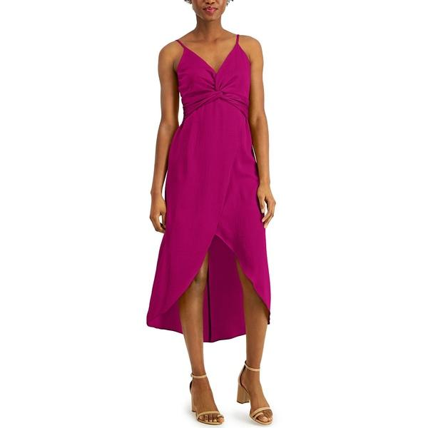 直輸入品激安 大幅値下げランキング バースリー レディース トップス ワンピース Fuchsia 全商品無料サイズ交換 Twist-Front for Created Macy's Dress High-Low
