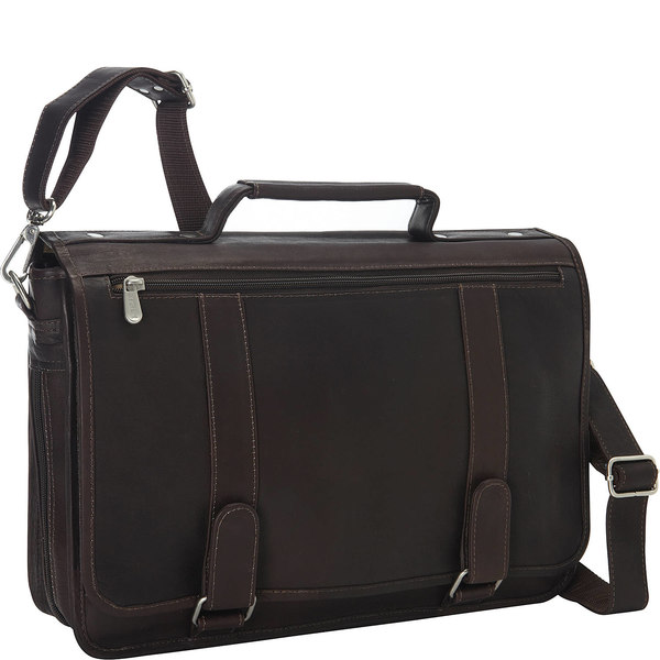 ピエール メンズ ビジネス系 バッグ Double Loop Leather Expandable Laptop Briefcase 59800