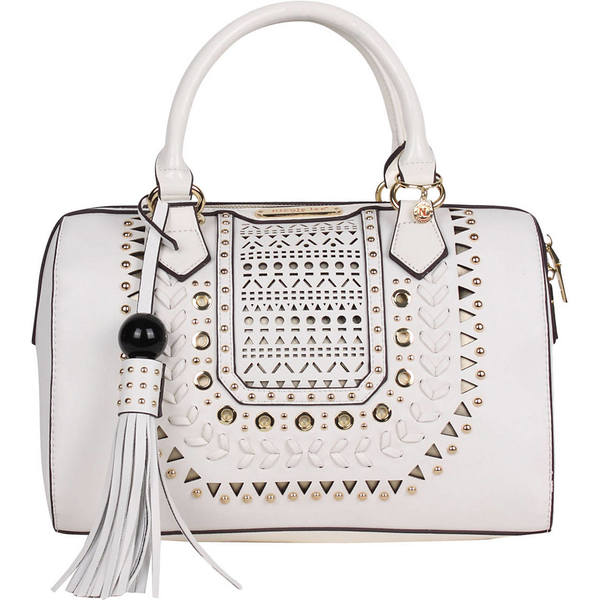 ニコルリー レディース ショルダーバッグ バッグ Anouska Braided Intricate Cut-Out Design Boston Shoulder Bag 22480