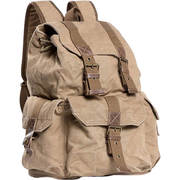 f875bf338d41 ヴァガボンドトラベラー メンズ バックパック・リュックサック バッグ Large Washed Canvas Backpack 18480