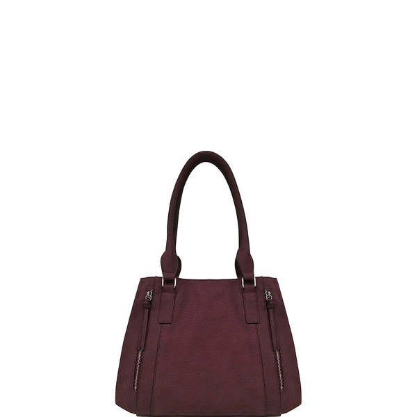 ブエノ レディース ハンドバッグ バッグ Grained Pebble Double Handle Satchel With Vertical Zippers 10480