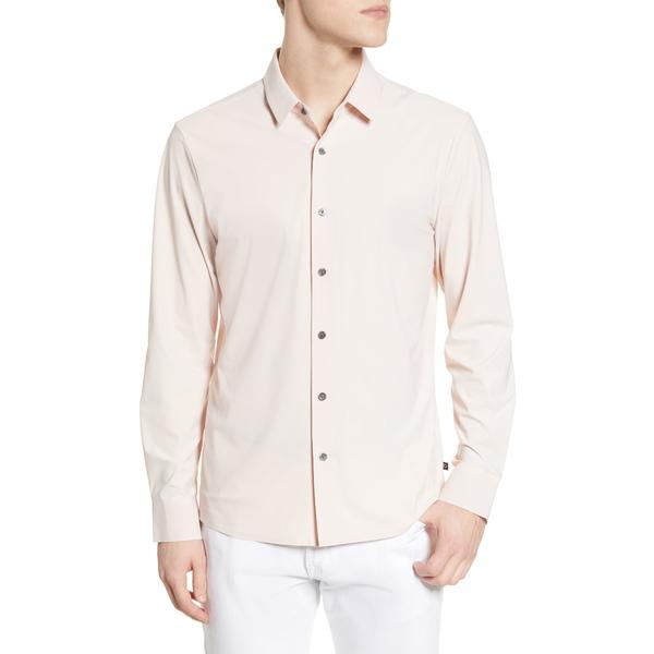 セブンダイヤモンド メンズ シャツ トップス Young Americans Slim Fit Button-Up Performance Shirt Dusty Rose