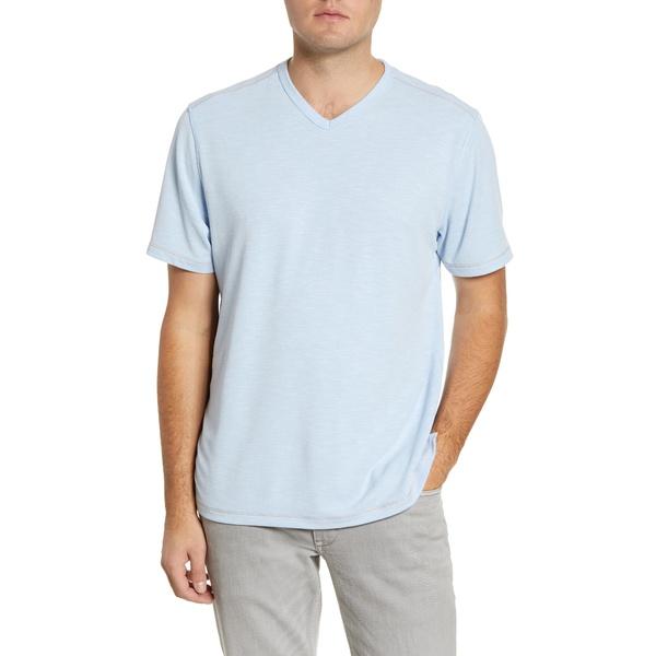 トッミーバハマ メンズ シャツ トップス Tropicool Paradise V-Neck T-Shirt Light Sky
