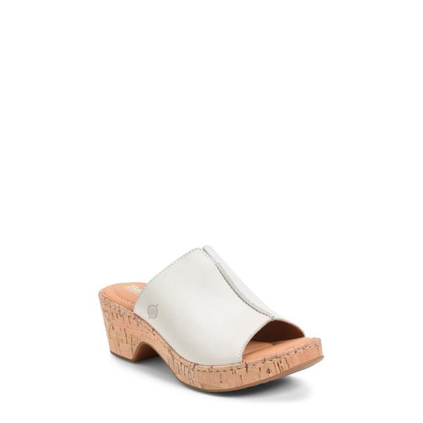 バーン レディース サンダル シューズ Asho Slide Sandal White Leather