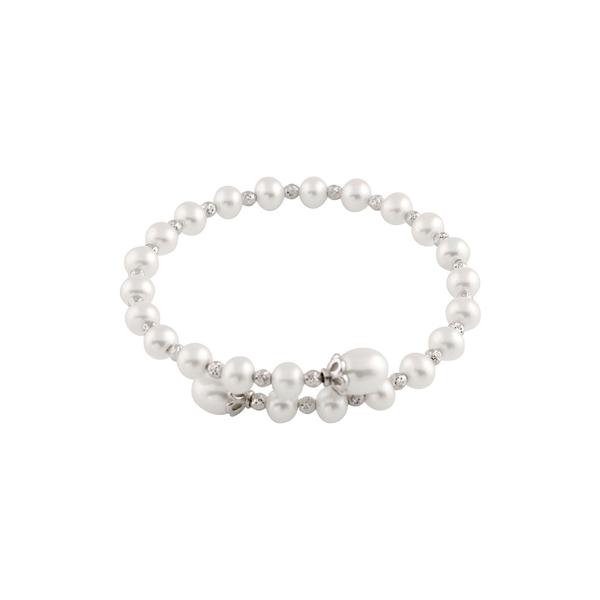 スプレンデッドパールズ レディース アクセサリー ブレスレット バングル アンクレット - 全商品無料サイズ交換 おすすめ特集 Rhodium Pearls Over 再再販 Bracelet Splendid Silver Pearl 5-8mm