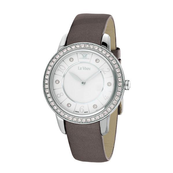 ルヴァン レディース アクセサリー 腕時計 - 全商品無料サイズ交換 Women's Diamond Vian Leather Le 人気急上昇 Watch 休み