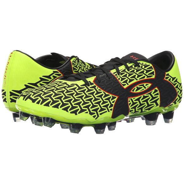 アンダーアーマー メンズ スニーカー シューズ UA Clutchfit Force 2.0 FG High-Vis Yellow/Rocket Red/Black