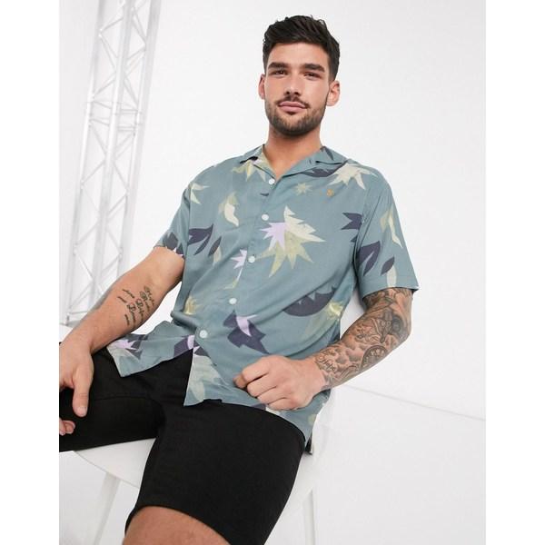ファーラー メンズ シャツ トップス Farah Tida short sleeve shirt Blue