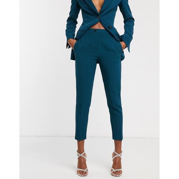 エイソス レディース カジュアルパンツ ボトムス ASOS DESIGN pop slim suit pants in teal Teal