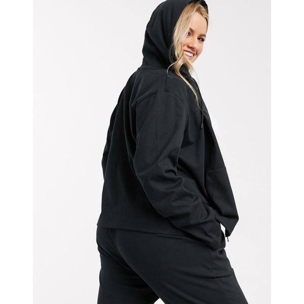 ナイキ レディース パーカー・スウェットシャツ アウター Nike Plus premium tonal black zip through hoodie BlackwiTXuOklPZ