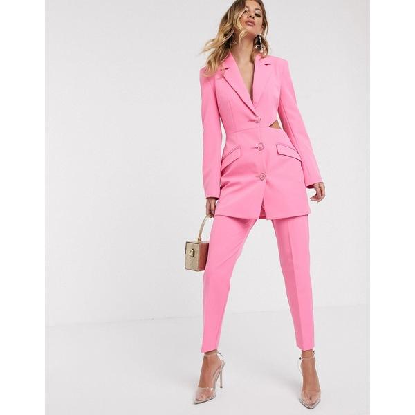 エイソス レディース カジュアルパンツ ボトムス ASOS DESIGN slim fancy suit pants Pink