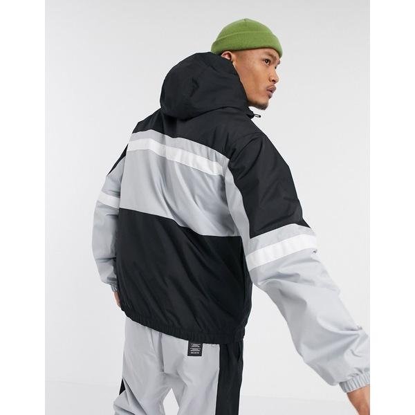 ナイキ メンズ ジャケット&ブルゾン アウター Nike Air half-zip overhead woven jacket in gray Gray