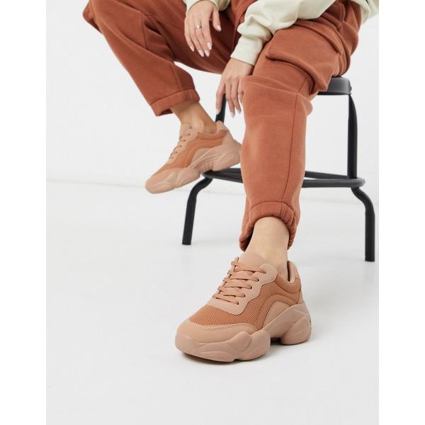 【返品不可】 エイソス レディース スニーカー シューズ ASOS DESIGN Destined chunky sneakers in beige drench Beige drench, Mahoe Anela Shop 2e79e974
