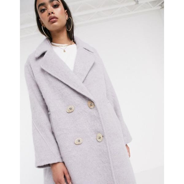 エイソス レディース コート アウター ASOS DESIGN statement coat with hero buttons in lilac Lilac