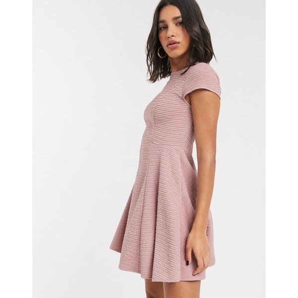 テッドベーカー レディース ワンピース トップス Ted Baker textured skater dress in pink Pink