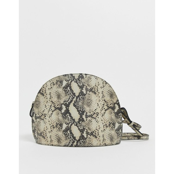 バガボンド レディース 財布 アクセサリー Vagabond Shannon natural snake effect leather dome cross body bag Snake leather