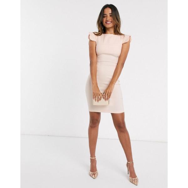 ベスパー レディース ワンピース トップス Vesper Poppy scalloped sleeve mini dress blush Blush