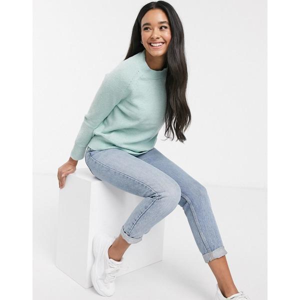 オアシス レディース ニット&セーター アウター Oasis raglan stitch sweater in green Pale green
