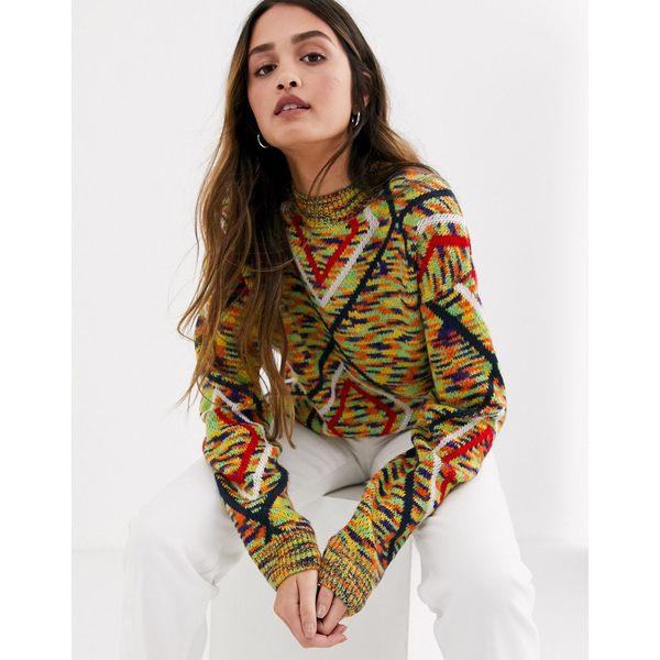 デイジーストリート レディース ニット&セーター アウター Daisy Street oversized sweater in retro knit Multi
