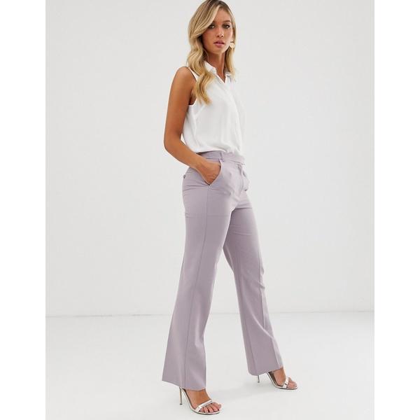 エイソス レディース カジュアルパンツ ボトムス ASOS DESIGN tailored straight leg pants Lilac