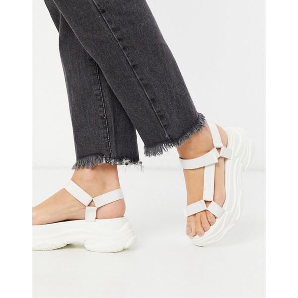 レイド レディース サンダル シューズ RAID Rania chunky sporty sandals in white White pu