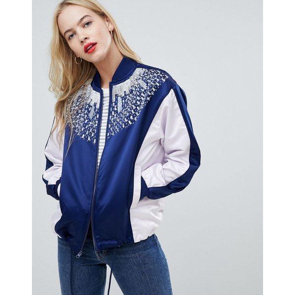 エイソス レディース ジャケット&ブルゾン アウター ASOS DESIGN color block embellished bomber jacket Multi
