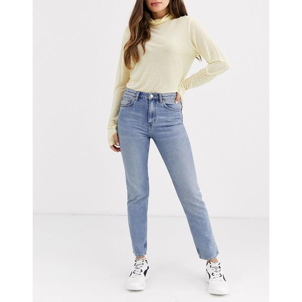 ウィークデイ レディース デニムパンツ ボトムス Weekday Seattle mom jeans Dusty lgt week blue