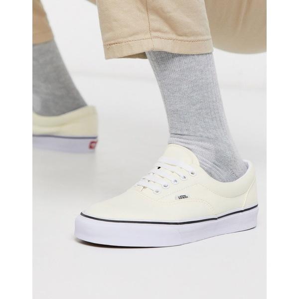 バンズ メンズ スニーカー シューズ Vans Era sneaker in classic white Classic white/true w