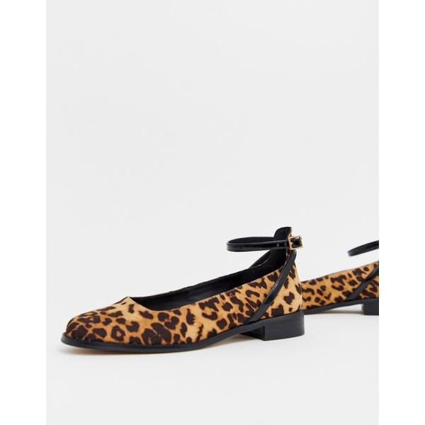 エイソス レディース サンダル シューズ ASOS DESIGN Molly flat shoes in leopard Leopard