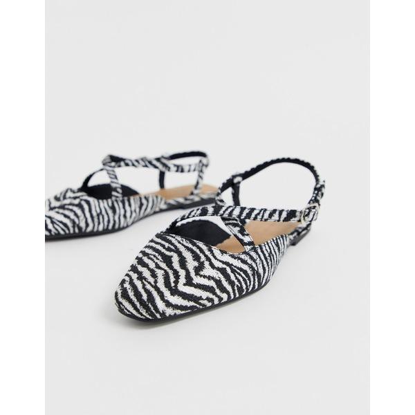 エイソス レディース サンダル シューズ ASOS DESIGN Loyal ballet flats in zebra Zebra