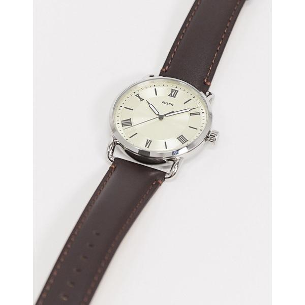 フォッシル メンズ 腕時計 アクセサリー Fossil Copeland brown leather watch FS5663 Brown