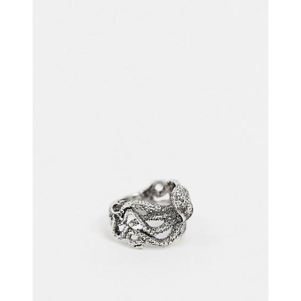 エイソス メンズ アクセサリー リング Silver 全商品無料サイズ交換 エイソス メンズ リング アクセサリー ASOS DESIGN octopus ring in silver tone Silver