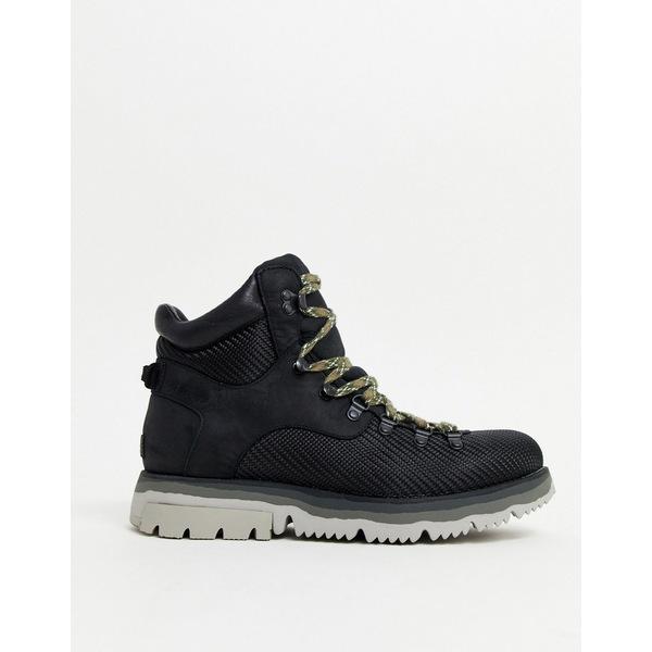 ソレル メンズ ブーツ&レインブーツ シューズ SOREL Atlis hiking boot in black Black