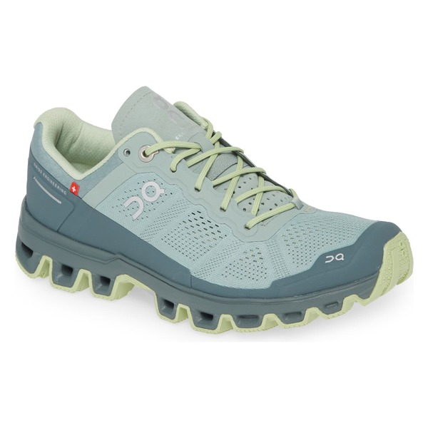 オンジー レディース スニーカー シューズ On Cloudventure Water Repellent Trail Running Shoe (Women) Moss/ Olive